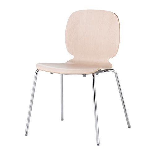 IKEA - SVENBERTIL, Chaise, Vous êtes confortablement assis grâce à une assise baquet légèrement souple et un dossier incurvé.Les pieds réglables en plastique assurent une meilleure stabilité pour la chaise.Traitement antidérapant spécial de la surface de l'assise.Les chaises peuvent être empilées pour libérer de l'espace quand elles ne servent pas.