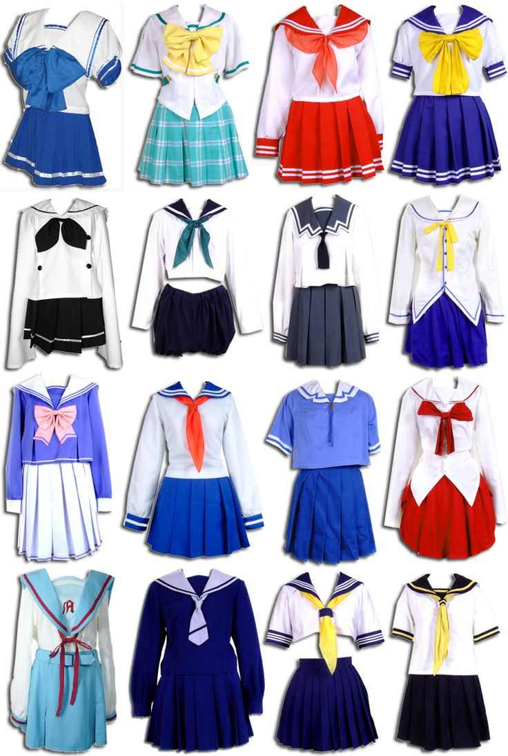 Vestuario cosplay / uniforme escolar japonés Manga - dibujos
