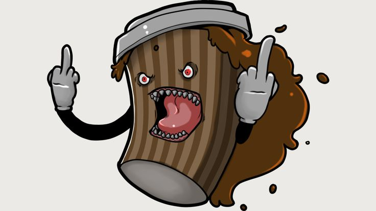Shop Coffee Fiend by Xavierstarr available as a T Shirt, Phone Case, Tank Top, , Mug and Scoop Neck T Shirt.