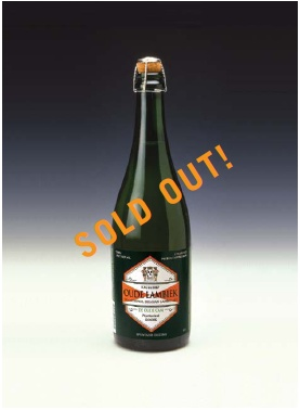De Cam (Wood Aged Vintage Ale) Three-Year-Oude Lambiek is SOLD OUT!