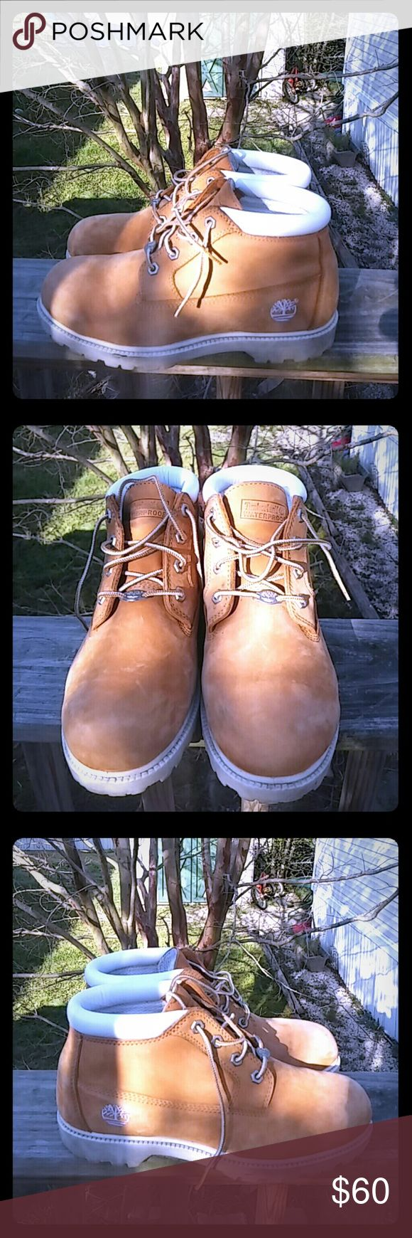 WOMENS WATERPROOF TIMBERLAND SZ 9.5 WOMENS WATERPROOF TIMBERLAND NELLIE CHUKKA DOUBLE SOLE MID BOOTS #23346-TAN 8.5M Timberland Shoes Lace Up Boots