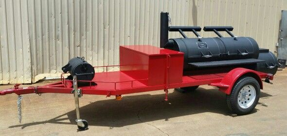 """Yes!.... Another Horizon Trailer Smoker sold to a couple from Lake Toxaway, NC! This is 24"""" Double Door Horizon Trailer Smoker! #MadeinOK Order yours today! 1-866-468-4066 www.horizonbbqsmokers.com"""