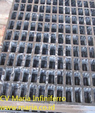 Grating Cast Iron tampak bawah, Proyek Stadion Balikpapan