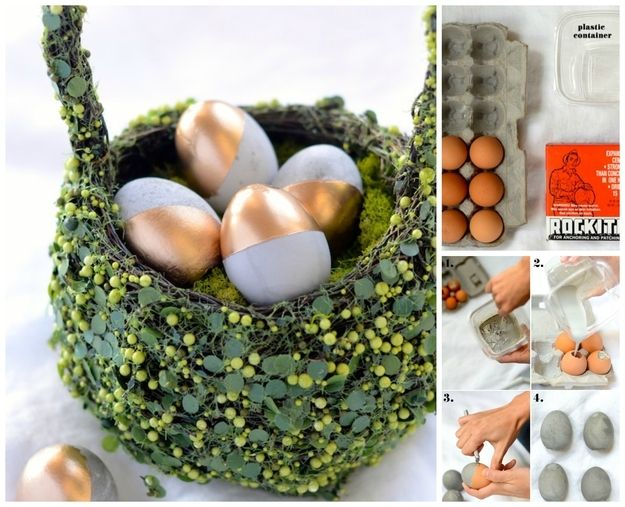 Decorative Easter Eggs | 22 Seriously Cool Cement Projects You Can Make At Home