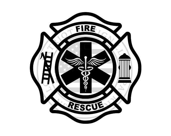 Vector Fire Rescue Ai Eps Pdf Png Svg Dxf Jpg Download Firefighter Cross Maltese Cross Firefighter Fire Rescue