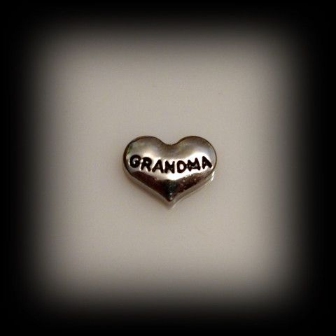 Grandma Silver Heart Floating Charm | Latest fashion jewellery from around the world
