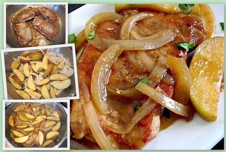 MyFridgeFood - One Pan Apple Pork Chops