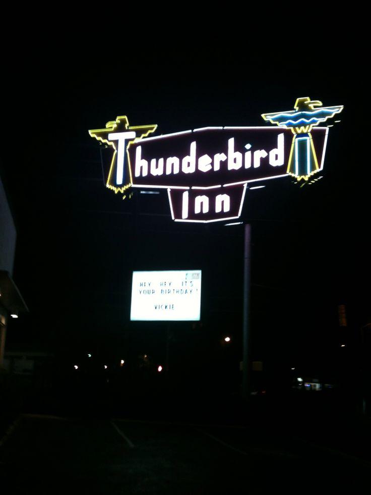 Thunderbird Inn for a retro, affordable snooze.
