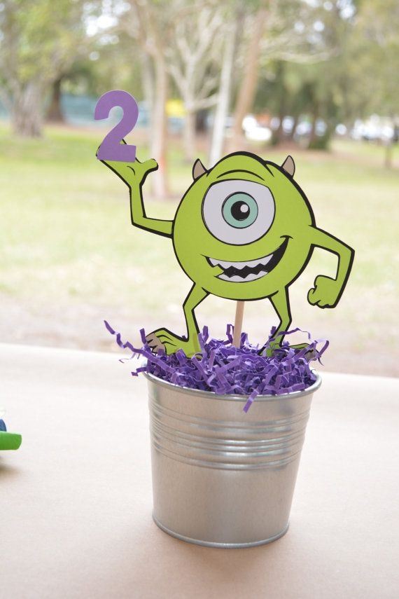 Hey, I found this really awesome Etsy listing at https://www.etsy.com/listing/229200587/monster-inc-mike-wazowski-party