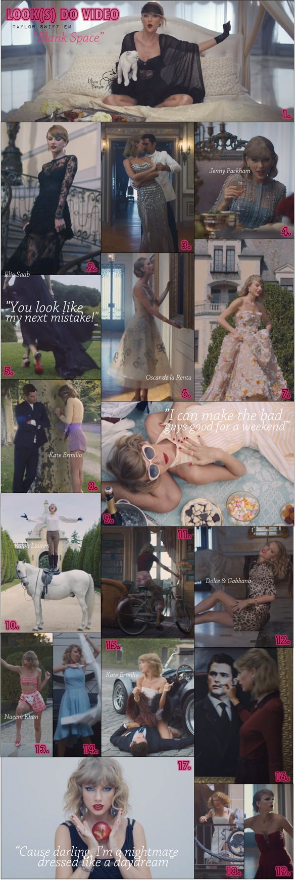 'Taylor Swift Blank Space Looks' wish i could have every single one of these gorgeous outfits