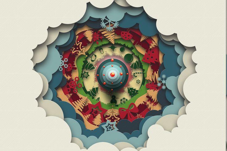 Christmas Kaleidoscope Animated by DesignSomething on @creativemarket