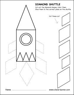 diamond shape cut and paste activity for preschool shapes and patterns space preschool. Black Bedroom Furniture Sets. Home Design Ideas