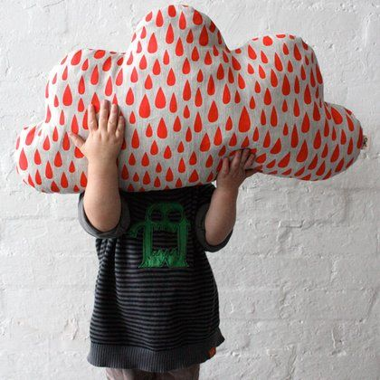 Cloud: Clouds, Cloud Pillow, Cushions, Kids, Harvest Textiles, Pillows