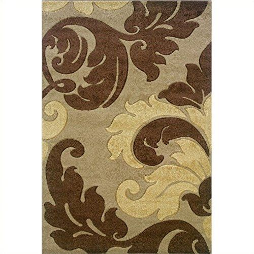 Contemporary Kids Rug in Tan and Brown 2 ft 10 in L x 1 ft 10 in W 3 lbs -- You can get more details by clicking on the image.Note:It is affiliate link to Amazon.