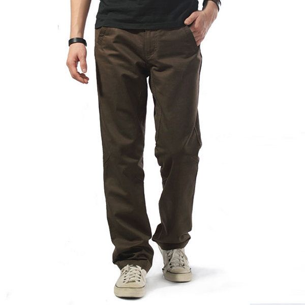 Plus Size Overalls Loose Fit Cotton Solid Color Casual Cargo Pants For Men