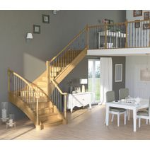 Escalier Chambord chêne et hêtre