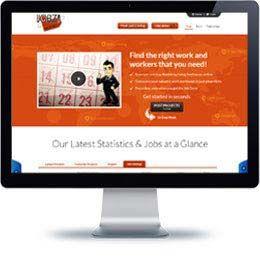 Projectjobz-Beta Company website built with E-commerce.