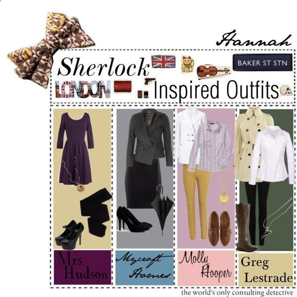 Sherlock Inspired Outfits by the-tip-geek on Polyvore