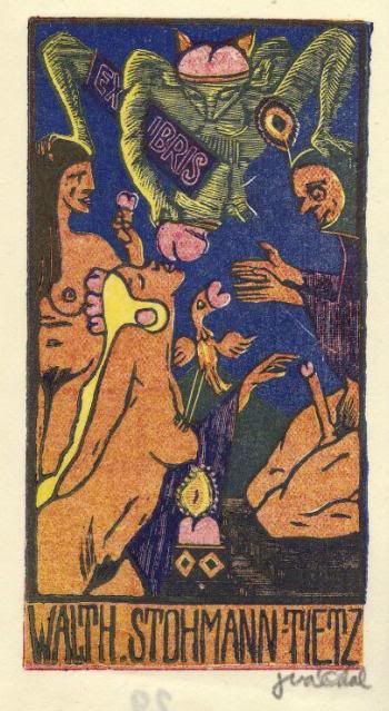 The Cabinet of the Solar Plexus: Ex Libris...Josef Váchal... erotica