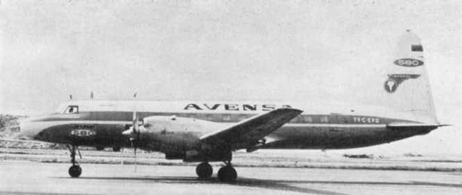 Convair 580 (YV-C-EVD, c/n 485) of AVENSA (Aerovias Venezolanas S.A.), converted from CV440.