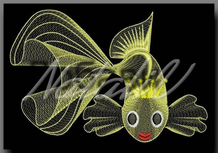 Золотая рыбка, бесплатный дизайн машинной вышивки