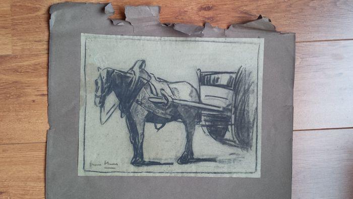 Online veilinghuis Catawiki: Originele houtskooltekeningen van Frans Hens (1856-1928)