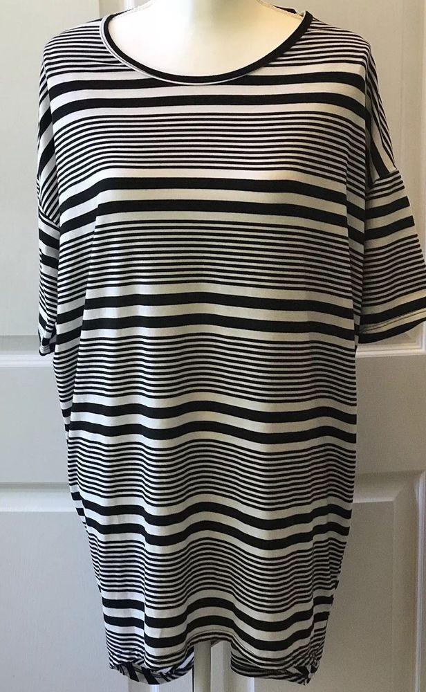 eb6cd2d2247 LuLaRoe Irma Shirt Size Small Black White Geometric Stripes Vintage LLR Hi  Low #LuLaRoe #Tunic #Casual