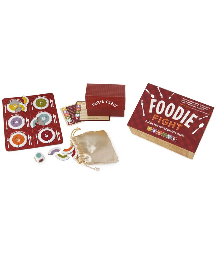 FOODIE FIGHT GAME | Trivia Board Game | UncommonGoods: Trivia Games, Games Online, Gifts Ideas, Boards Games, Fight Trivia, Trivia Boards, Fight Games, Foodies Fight, Friv Games