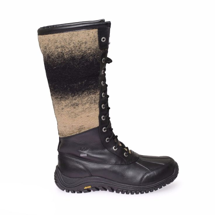 UGG Adirondack Tall Cold Weather Black Boots