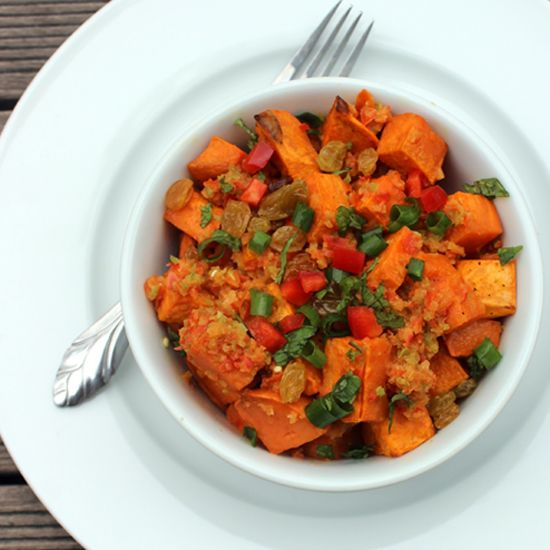 A Spicy Sweet Potato Salad That Can Help You Lose Weight...maybe add some quinoa to make it a main?