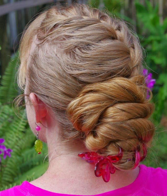 Braids & Hairstyles for Super Long Hair: Loose French Braid Updo