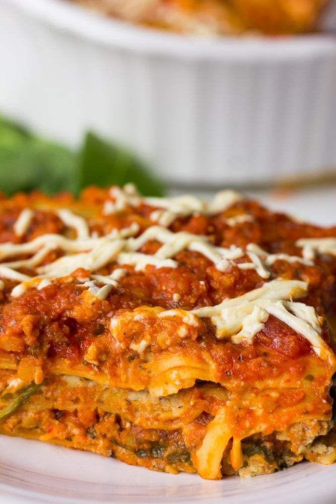 The Best Vegan Lasagna With A Tofu Cashew Ricotta Lots Of Fresh Spinach And A Protein Packed Marinara Sauce Vegan Main Dishes Vegan Lasagna Vegan Foods