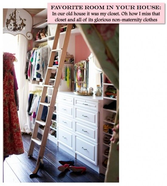 Bedroom Closet With Rolling Library Ladder. We Are Doing This One Day : ) I