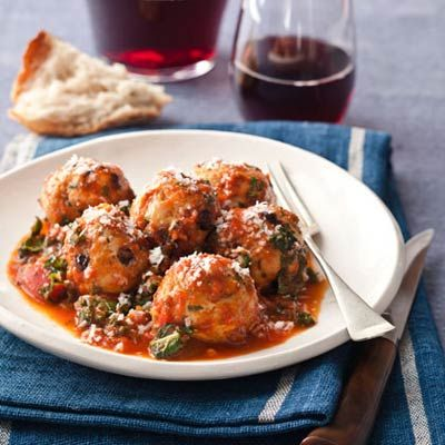 Turkey, Pine Nut, and Currant Meatballs    The best meatballs we've ever tasted! A great source of lean protein, this dish is packed with nutrients. Currants add a dose of potassium and fiber.