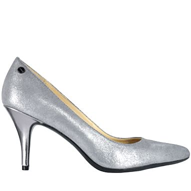Calvin Klein - #113613002 This pump is a metallic silver. Available at Town Shoes.