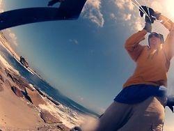 setting up the kite camera, Lesconil 2012