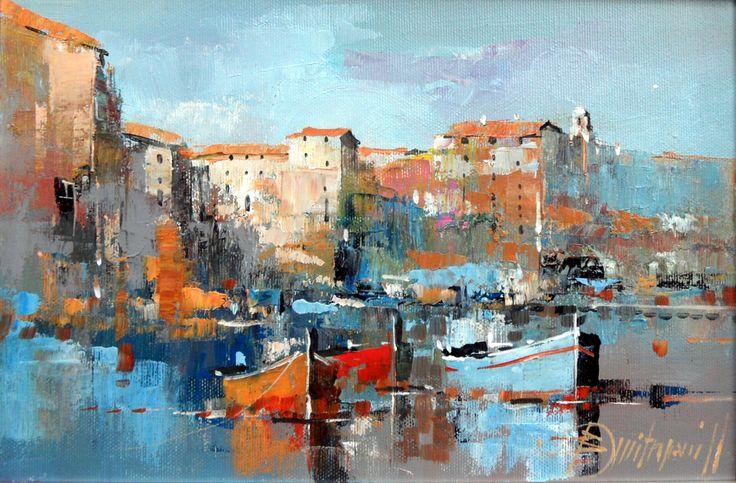 Branko Dimitrijevic, Morning, Oil on canvas, 20x30cm