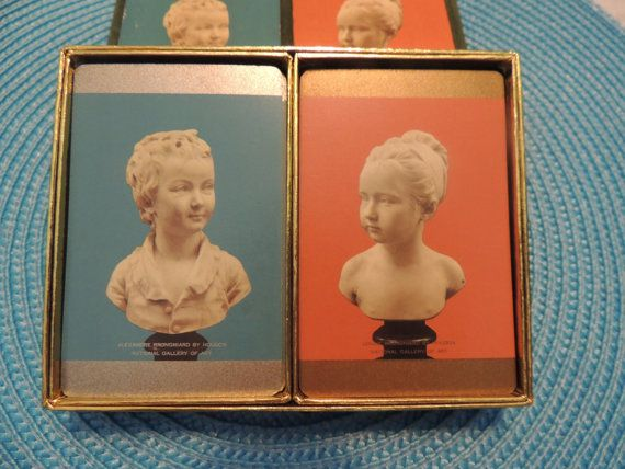 Double Deck Pinochle Cards in Box by PurveyorsOfFineJunk on Etsy