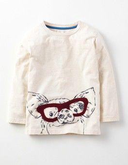 Oatmeal/Pig Farm Life T-shirt Boden