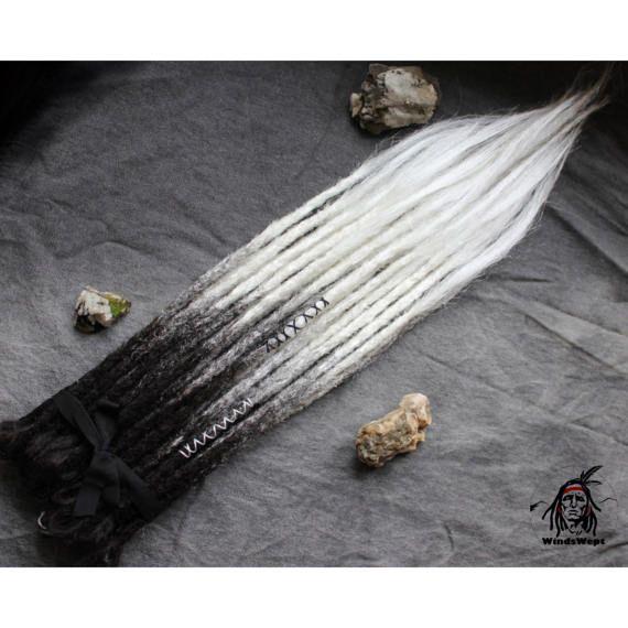 Fluorite noir et blanc crocheté Dreads synthétiques dreadlocks