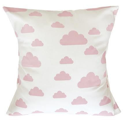 Rose Pink Cloud Scatter Cushion Cover