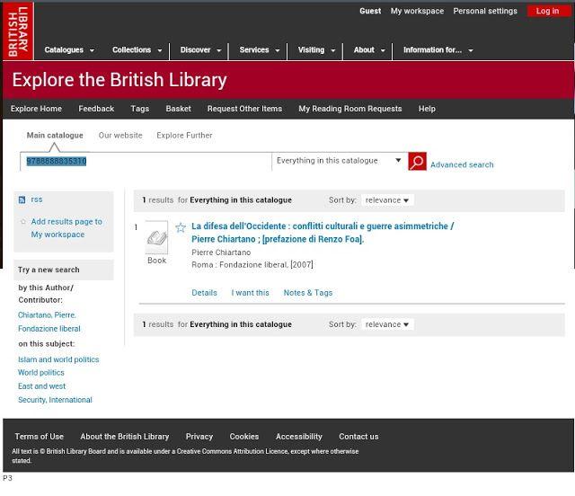 La difesa dell'Occidente: The book of Pierre even in British Library