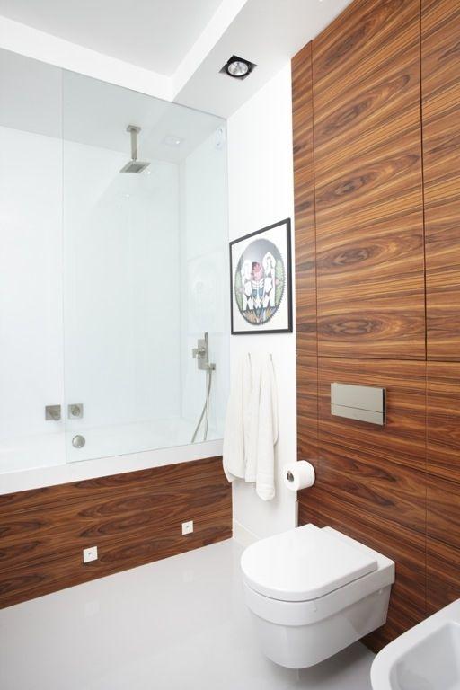 foorni.pl | Wnetrze prywatne. Drewno w łazience. Projektant: Nasciturus Design