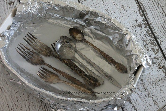 trick clean tarnished silver