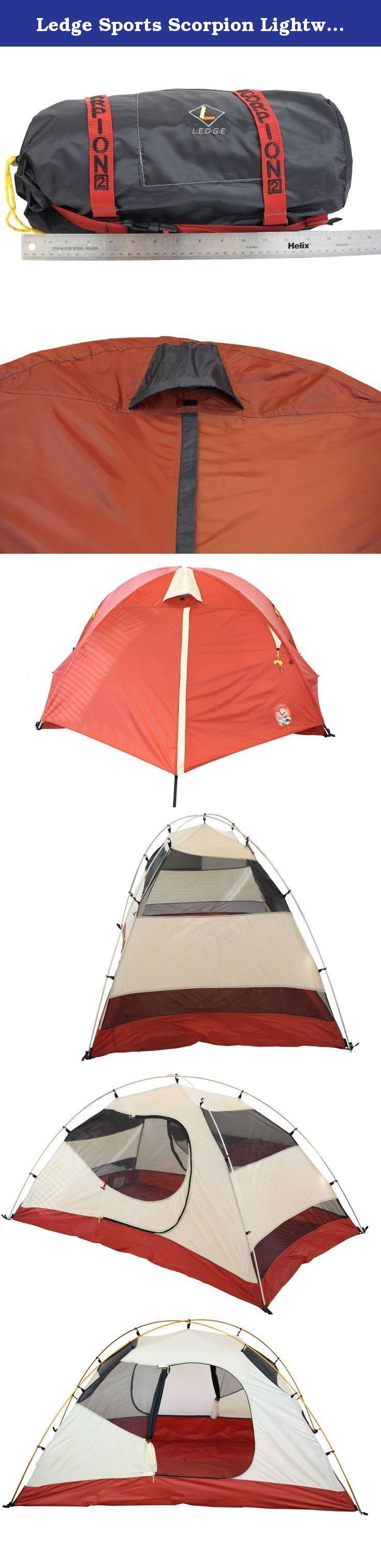 Ledge Sports Scorpion Lightweight 2 Person Tent (92 X 58 - 42-Inch Height, 5.2-Pounds). Feature for feature the best tent on the market in price and specification. It includes full heat tape proprietary design, sturdy 2 aluminum pole assembly, and extensive waterproofing. It also provides exemplary internal storage and organization choices highlighting the dual door and vestibules.