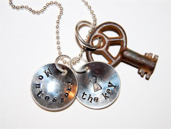 Montessori Jewelry Necklace Pendant The Key by codysanantonio, $65.00: Teacher Belittl, Williams Teacher