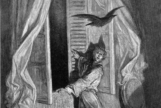 "tone and mood in the raven a poem by edgar allan poe ""once upon a midnight dreary"" begins the raven, setting the mood for one of the most recognizable poems written in english edgar allan poe's spooky raven enters the narrator's house."