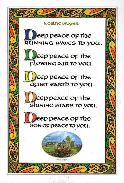 Celtic Prayer ... card from Iona Abbey   www.facebook.com/loveswish