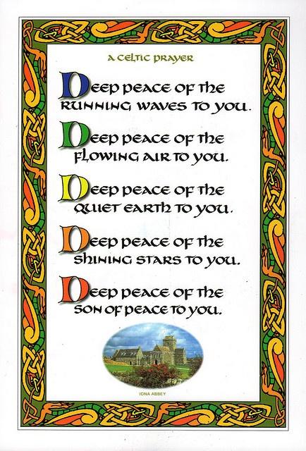 Celtic Prayer ... card from Iona Abbey   www.facebook.com/loveswish