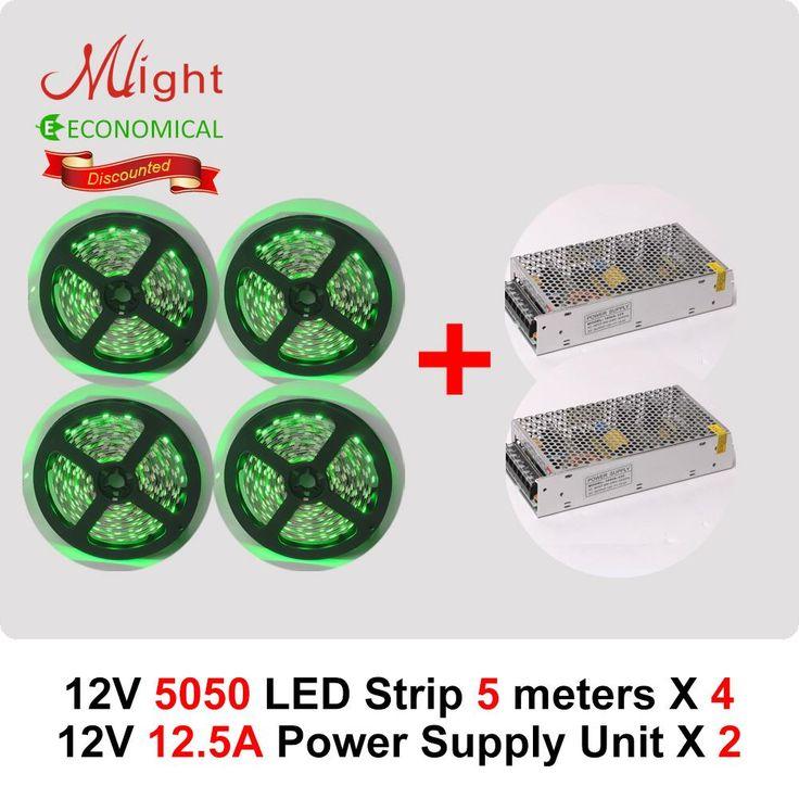 20 meters 12V 5050SMD LED Strip Light & 2pcs 150W Power Supply Advence DIY Kit #Affiliate